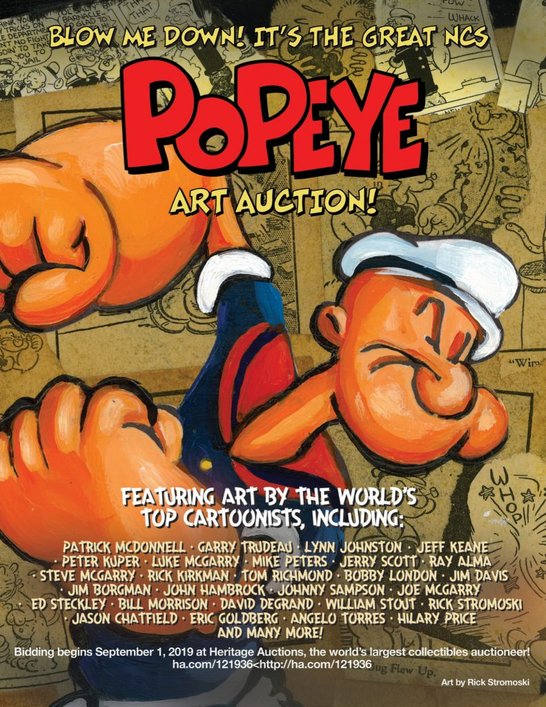 Popeye's 90th anniversary auction announced! | National Cartoonists Society